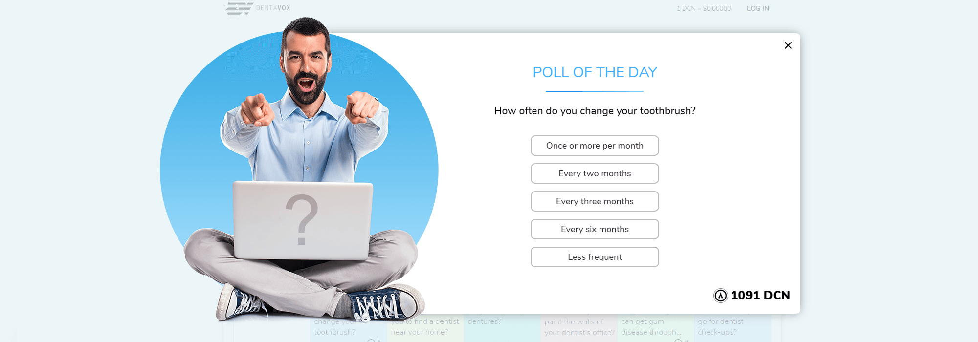 Dentavox Take polls with no signup required